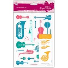 Набор штампов прозрачных Музыкальные инструменты