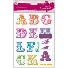 Набор штампов прозрачных Алфавит A-M, заглавные