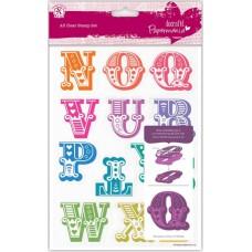 Набор штампов прозрачных Алфавит N-Z, заглавные