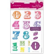 Набор штампов прозрачных Алфавит Цифры