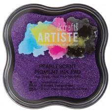 Подушка штемпельная пигментная, фиолетовый металлик