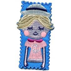 Термоаппликация HKM Девочка-морячка в розовом, 1 шт
