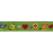 Лента с рисунком  жаккард,15 мм, 15 м, цвет с.4