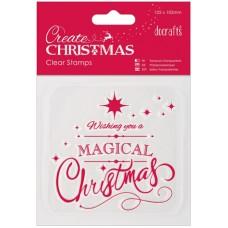 Штамп прозрачный Магическое Рождество