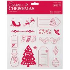 Штамп прозрачный Весёлого Рождества