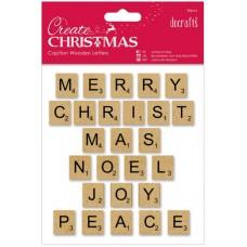 Набор декоративных элементов Заглавные буквы в Рождественских фразах