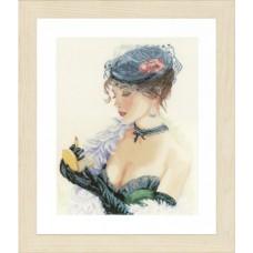 Набор для вышивания Lady with Lipstick  LANARTE