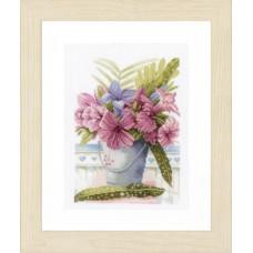 Набор для вышивания Flowers in Bucket  LANARTE