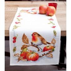 Дорожка Робин с яблоками набор для вышивания