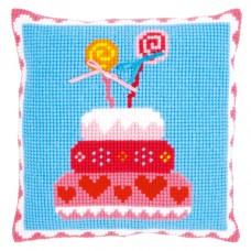 Подушка Торт для мальчика набор для вышивания