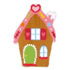 Подушка фигурная Пряничный домик набор для вышивания