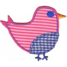 Термоаппликация HKM Птичка в розовую полоску, 1 шт