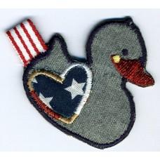 Термоаппликация HKM Серая утка с сердечком, 1 шт