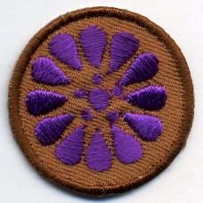 Термоаппликация HKM Лиловый цветок, 1 шт