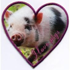 Термоаппликация HKM Я люблю свинок, 1 шт