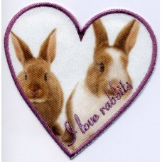 Термоаппликация HKM I love rabbits, 1 шт