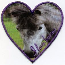 Термоаппликация HKM I love horses, 1 шт