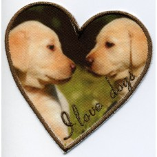 Термоаппликация HKM I love dogs, 1 шт