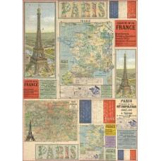 Карта для декупажа Карта - Франция