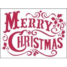 Трафарет Веселого Рождества