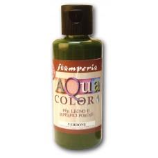 Краска на водной основе Aquacolor, зелёный