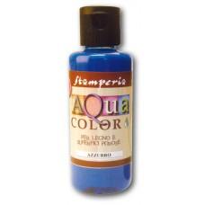 Краска на водной основе Aquacolor, синий