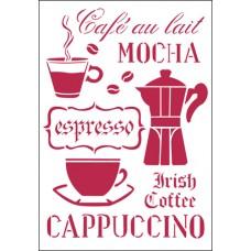 Трафарет Время пить кофе