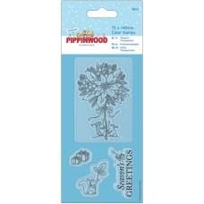 Штамп прозрачный Пуансеттия Pippinwood Christmas