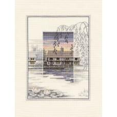 Набор для вышивания Lily Pond Cottage
