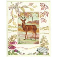 Набор для вышивания в технике бэкстич и счётный крест Deer