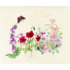 Набор для вышивания Summer Wild Flowers, на льне