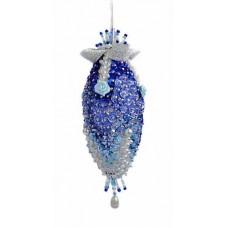 Набор для творчества - елочная игрушка Синий кристалл