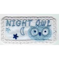 Термоаппликация HPL Night Owl wei?, 1 шт