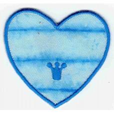 Термоаппликация HKM Herz Batikblau, 1 шт