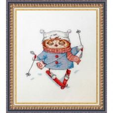 Набор для вышивания Лыжница