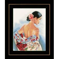 Набор для вышивания Flower scarf  LANARTE