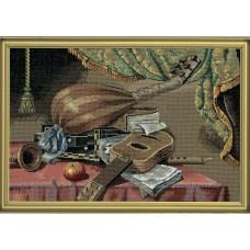 Набор для вышивания Музыкальные инструменты, лён 18 ct