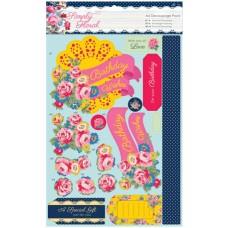 Набор бумаги с высечкой Яркие цветы Simply Floral