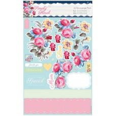 Набор бумаги с высечкой Пастельные цветы Simply Floral