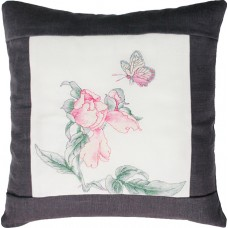 Набор для вышивания  подушка Цветок и бабочка, Luca-S