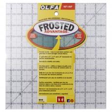 Линейка для пэчворка Frosted, градация в дюймах, квадрат 9 х 9