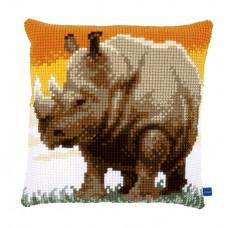 Подушка  Африканский носорог набор для вышивания