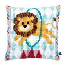 Подушка  Цирковой лев набор для вышивания