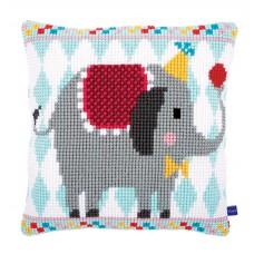 Подушка  Цирковой слон набор для вышивания