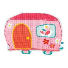 Подушка фигурная  Домик- прицеп набор для вышивания