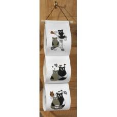 Держатель для туалетной бумаги набор для вышивания Любовь сов