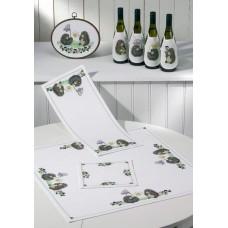 Салфетка Ёжики набор для вышивания