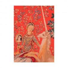 Набор для вышивания Дама и Единорог канва Jobelan 27 ct