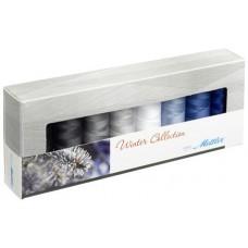 Набор с нитками Silk Finish  Оттенки Зимы в подарочной упаковке, 8 катушек