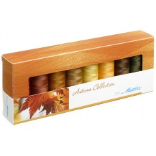 Набор с нитками Silk Finish  Оттенки Осени в подарочной упаковке, 8 катушек
